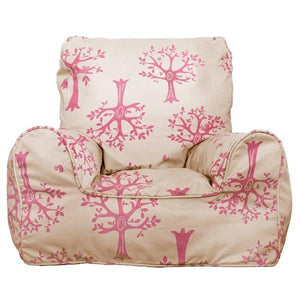 Orchard Pink Bean Chair