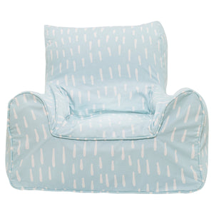 Raindrops Bean Chair - Aqua Blue