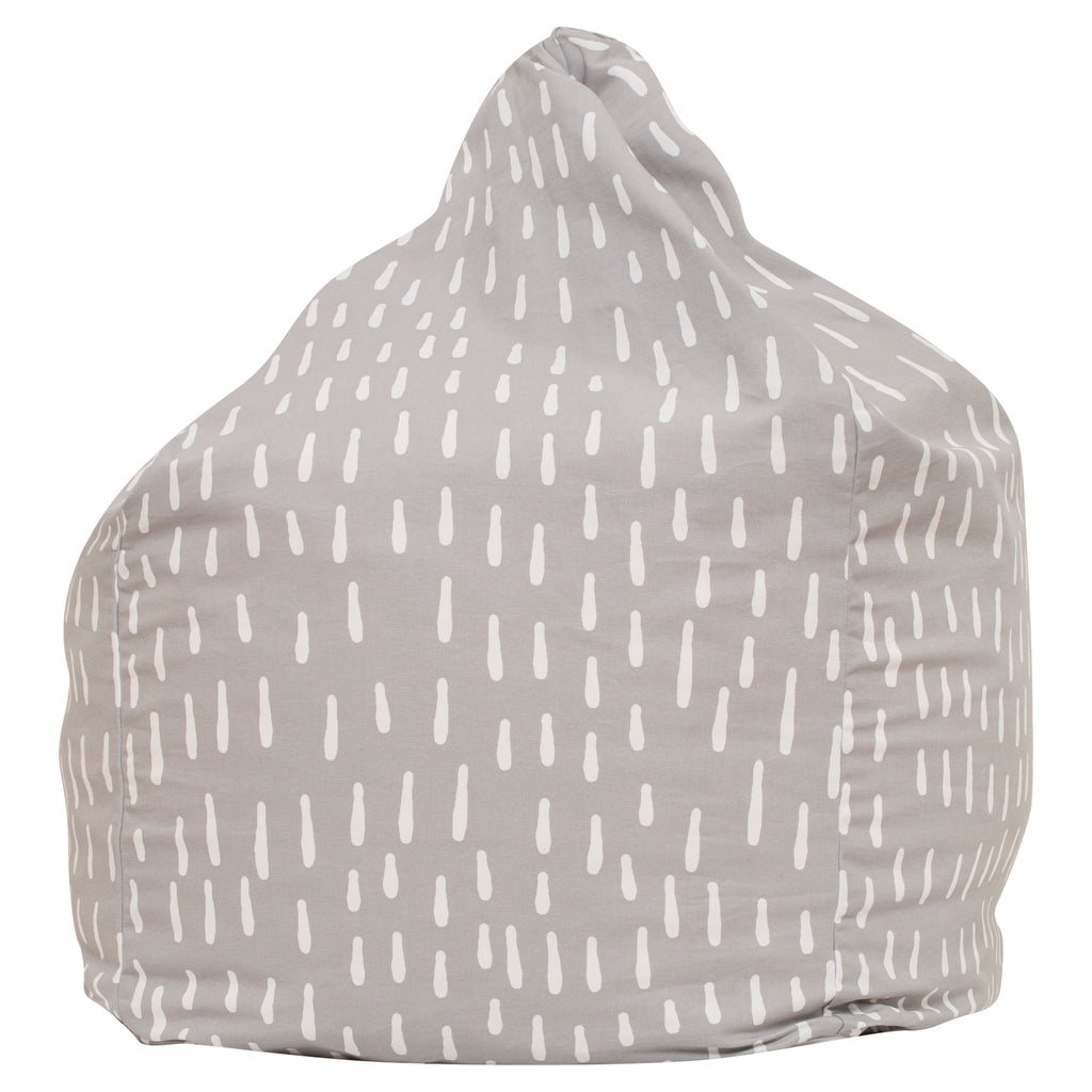 Raindrops Bean Bag - Grey