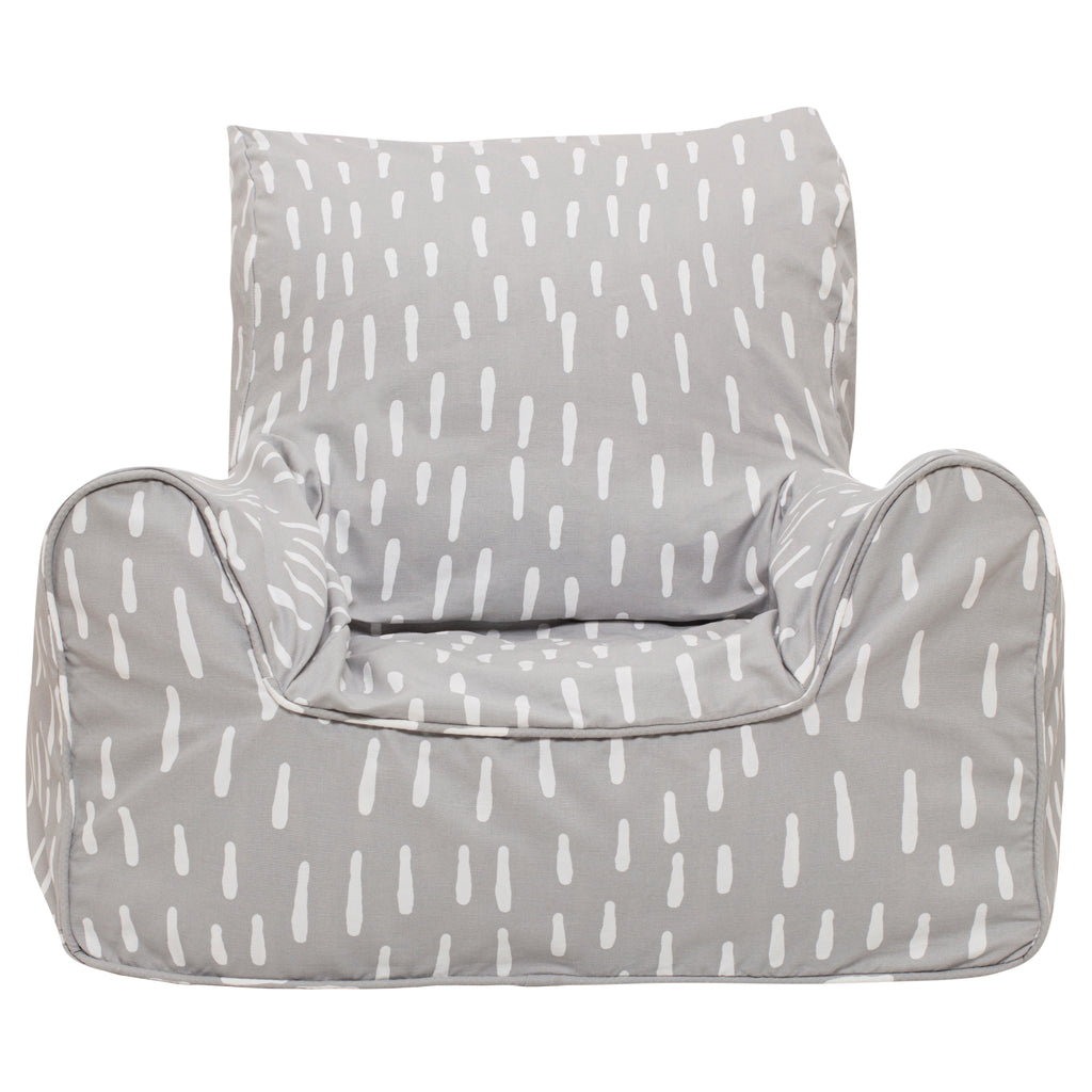 Raindrops Bean Chair - Grey