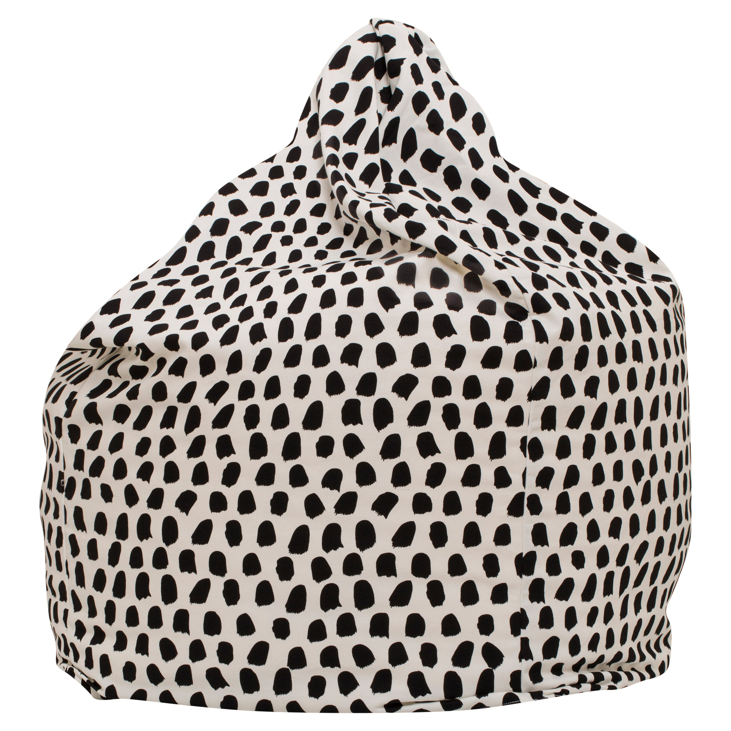 Splotches Bean Bag - Black & White