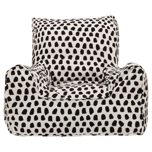 Splotches Bean Chair - Black & White
