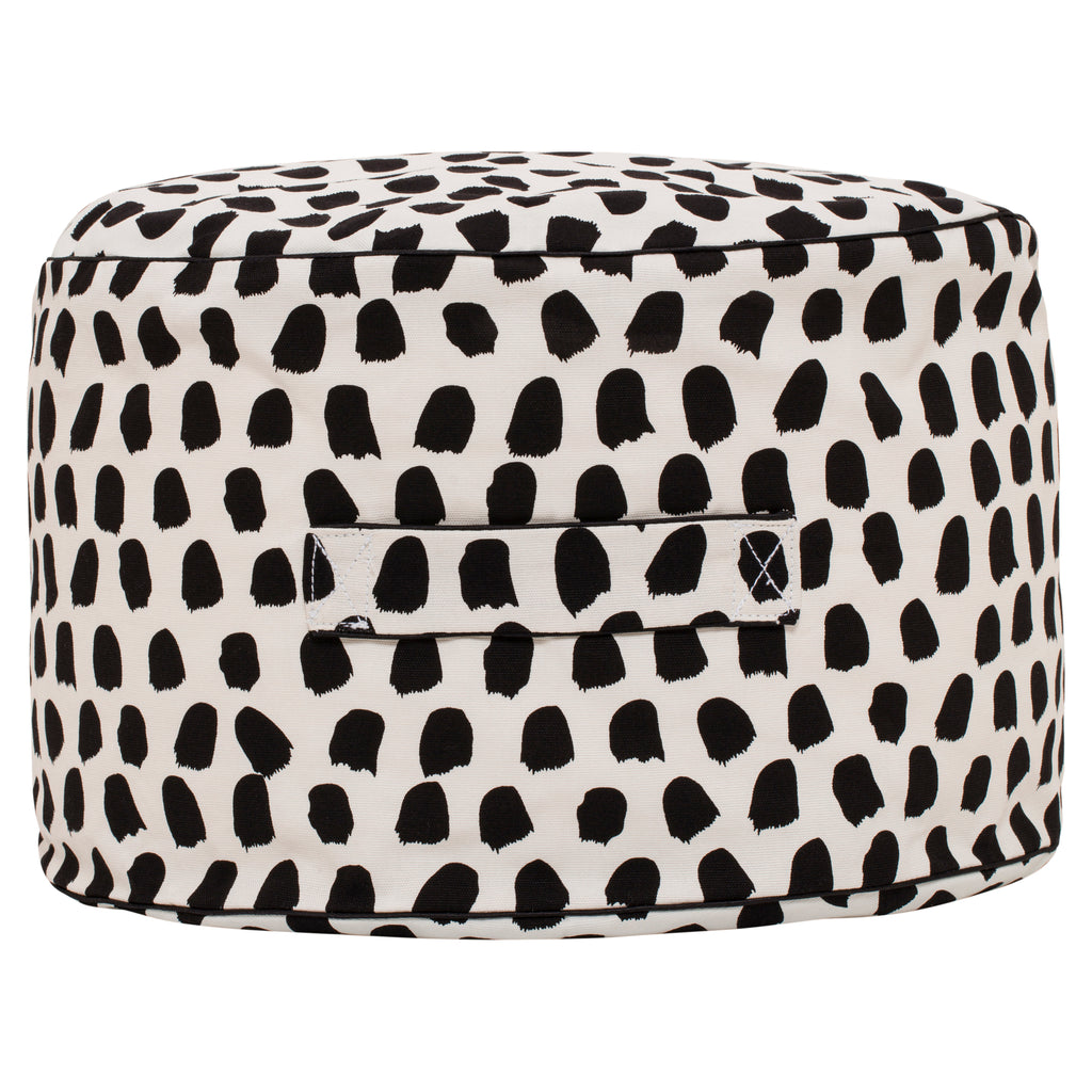 Splotches Ottoman - Black & White