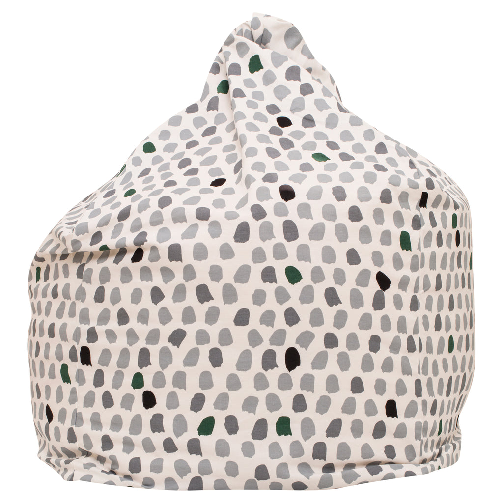 Splotches Bean Bag - Green & Grey