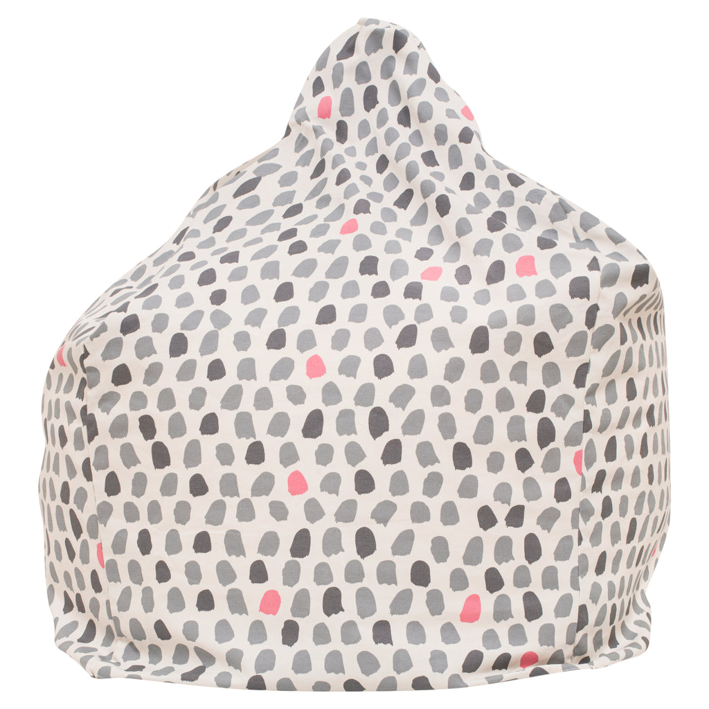 Splotches Bean Bag - Pink & Grey