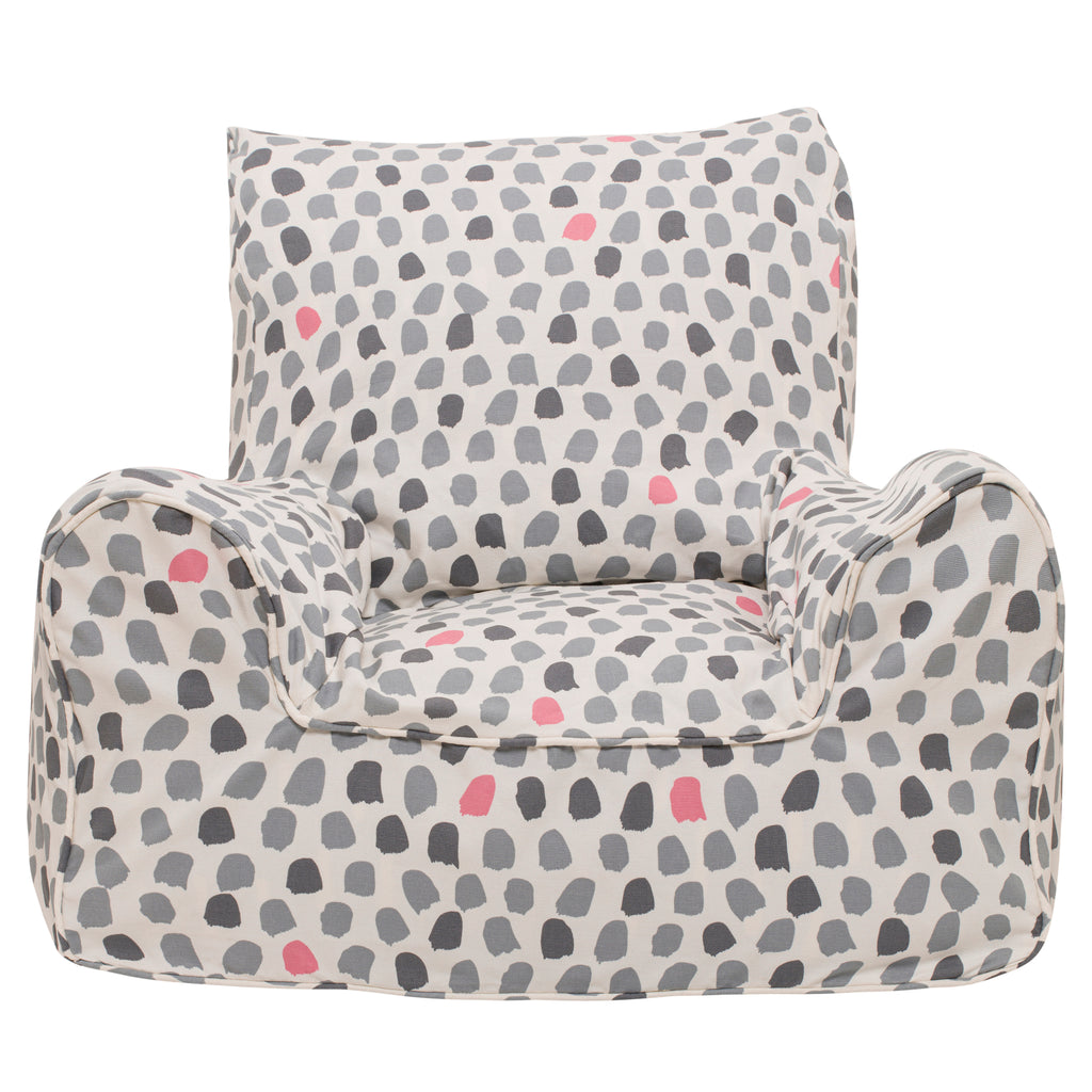 Splotches Bean Chair - Pink & Grey