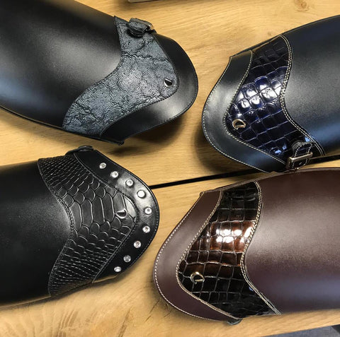 Examples of Custom Dressage Boot Tops