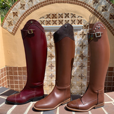 Custom Brown Derby Dressage Boots