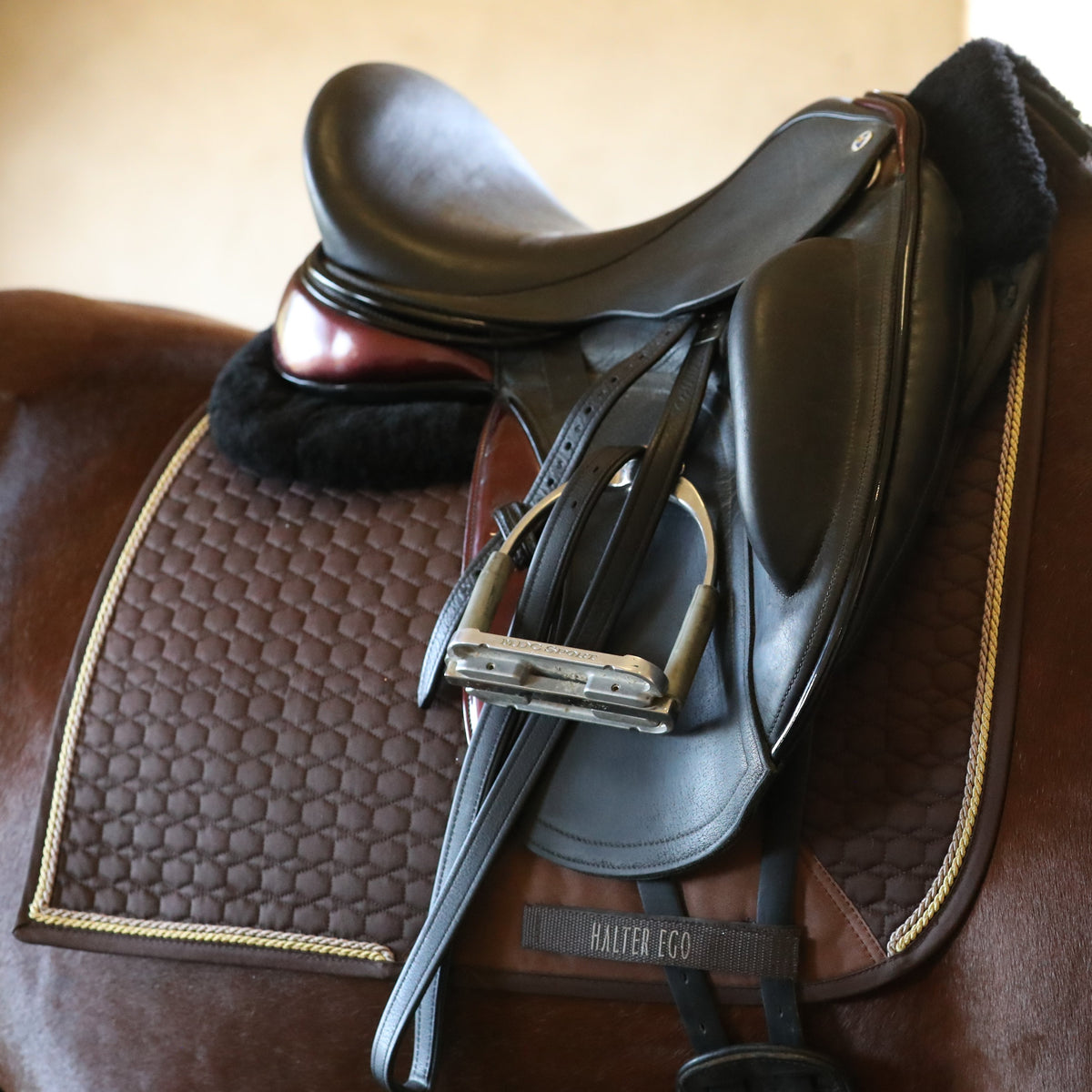 European Cotton Dressage Saddle Pad - Chocolate