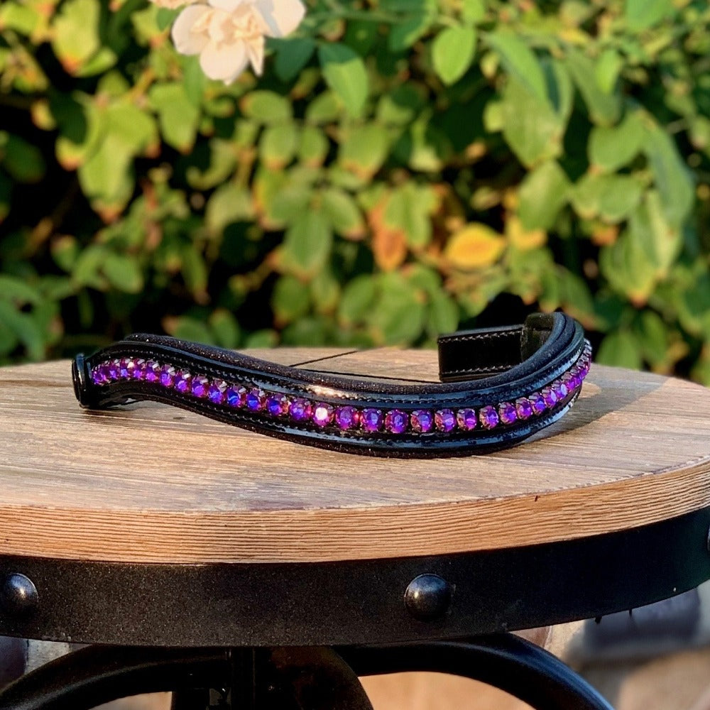 Swarovski Crystal Patent Browband - The Cosmo