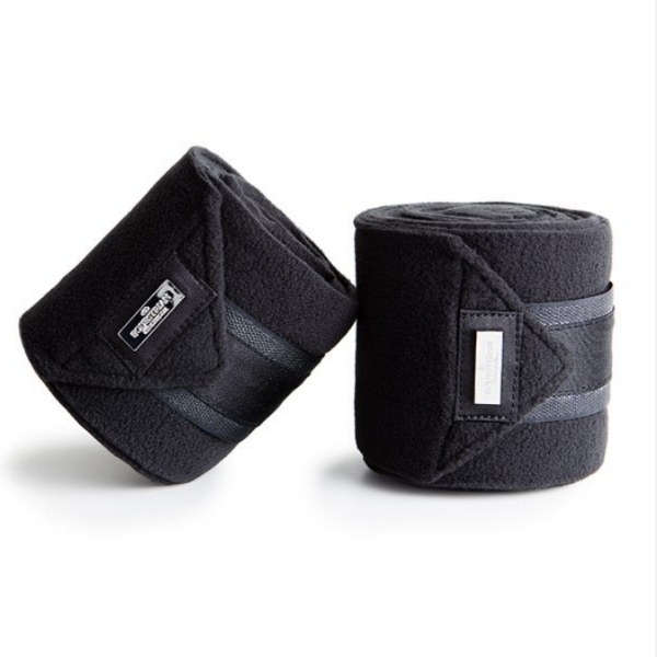Equestrian Stockholm Black Edition Fleece Bandages
