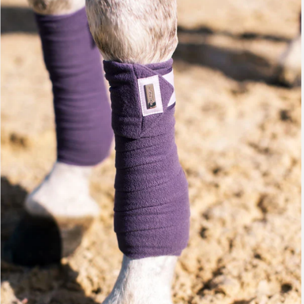 Equestrian Stockholm Lavender Fleece Bandages