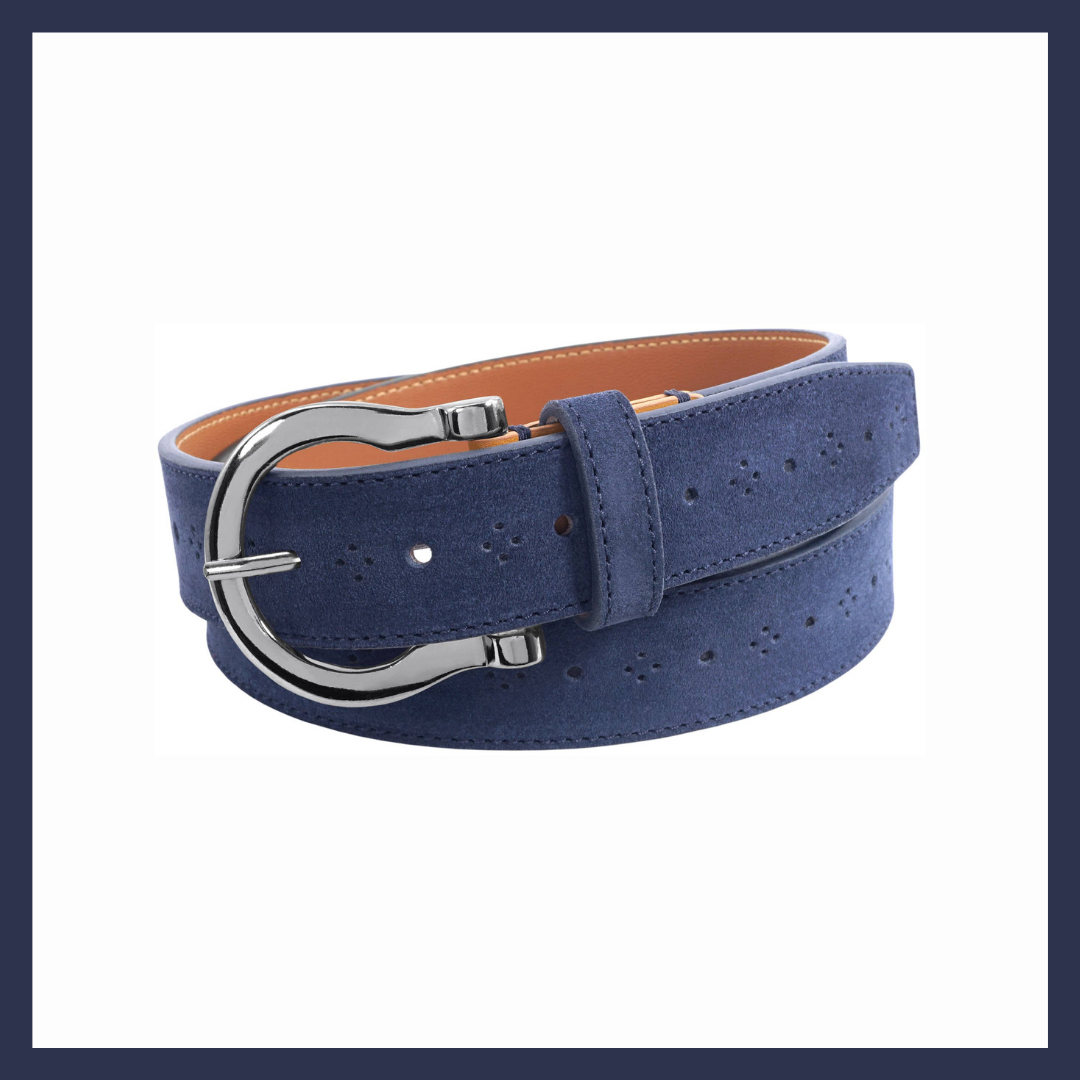 Navy Suede Richmond Equestrian Belt