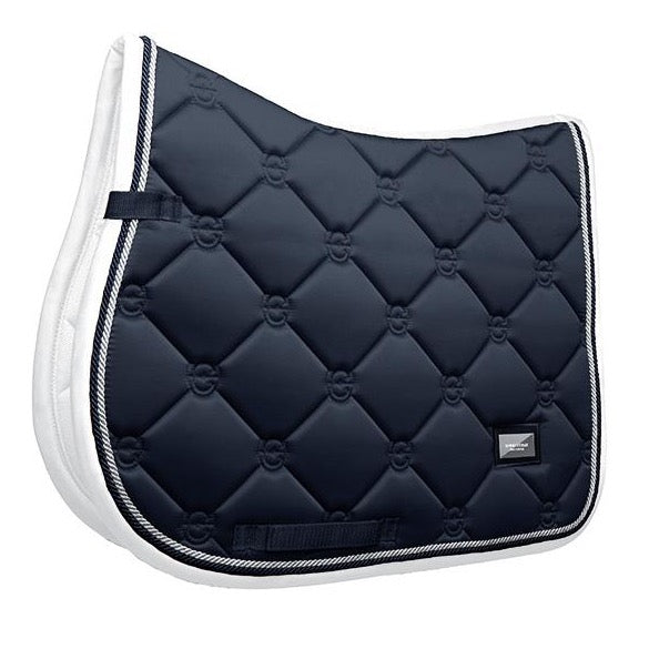 Midnight White Edge Jump Saddle Pad