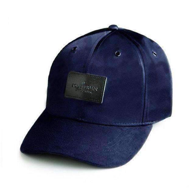 Equestrian Stockholm Baseball Cap Navy Suede