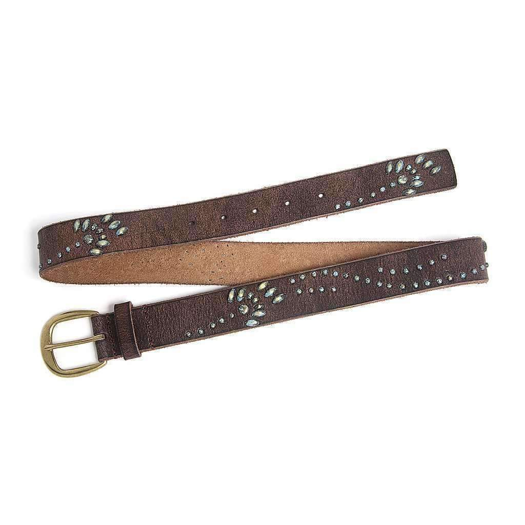 Vintage Leather & Bead Belt