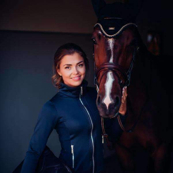Equestrian Stockholm Midnight Blue Fleece Jacket