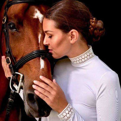 Bella Lace Long Sleeve Riding Shirt