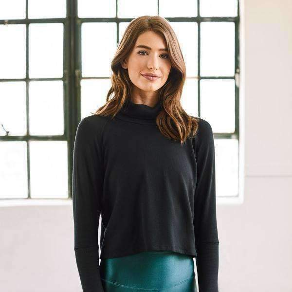 Two-Tone Turtleneck - Black