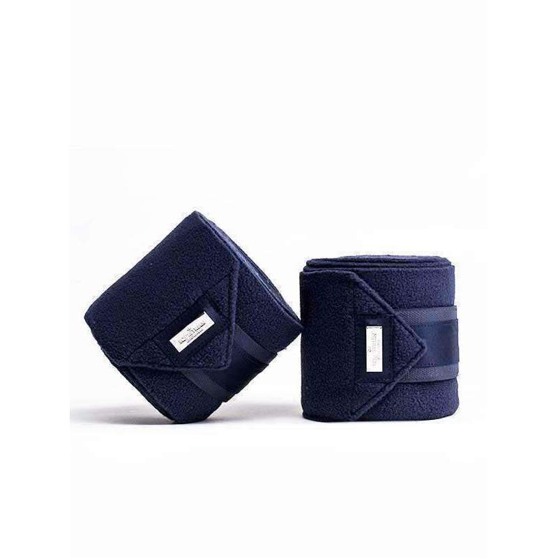 Equestrian Stockholm Classic Navy & Silver Fleece Bandages