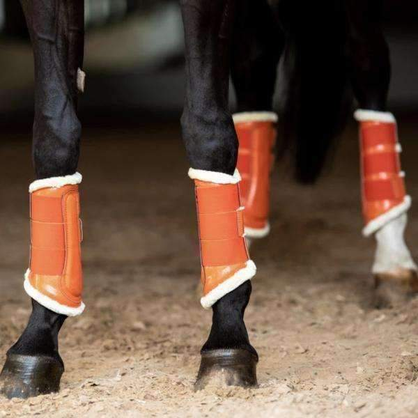 Equestrian Stockholm Brick Orange Brushing Boots