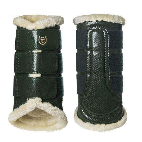 Equestrian Stockholm Forest Green Brushing Boots