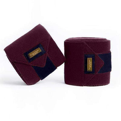 Equestrian Stockholm Purple Gold Fleece Bandages