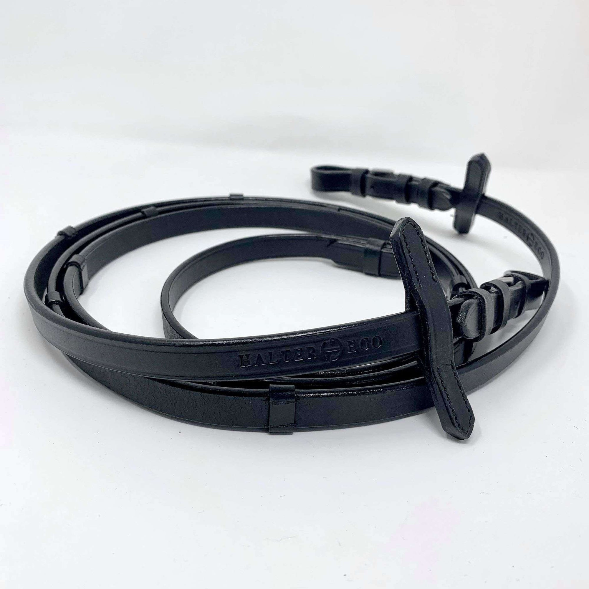 Halter Ego® Luxury Leather Reins With Stops