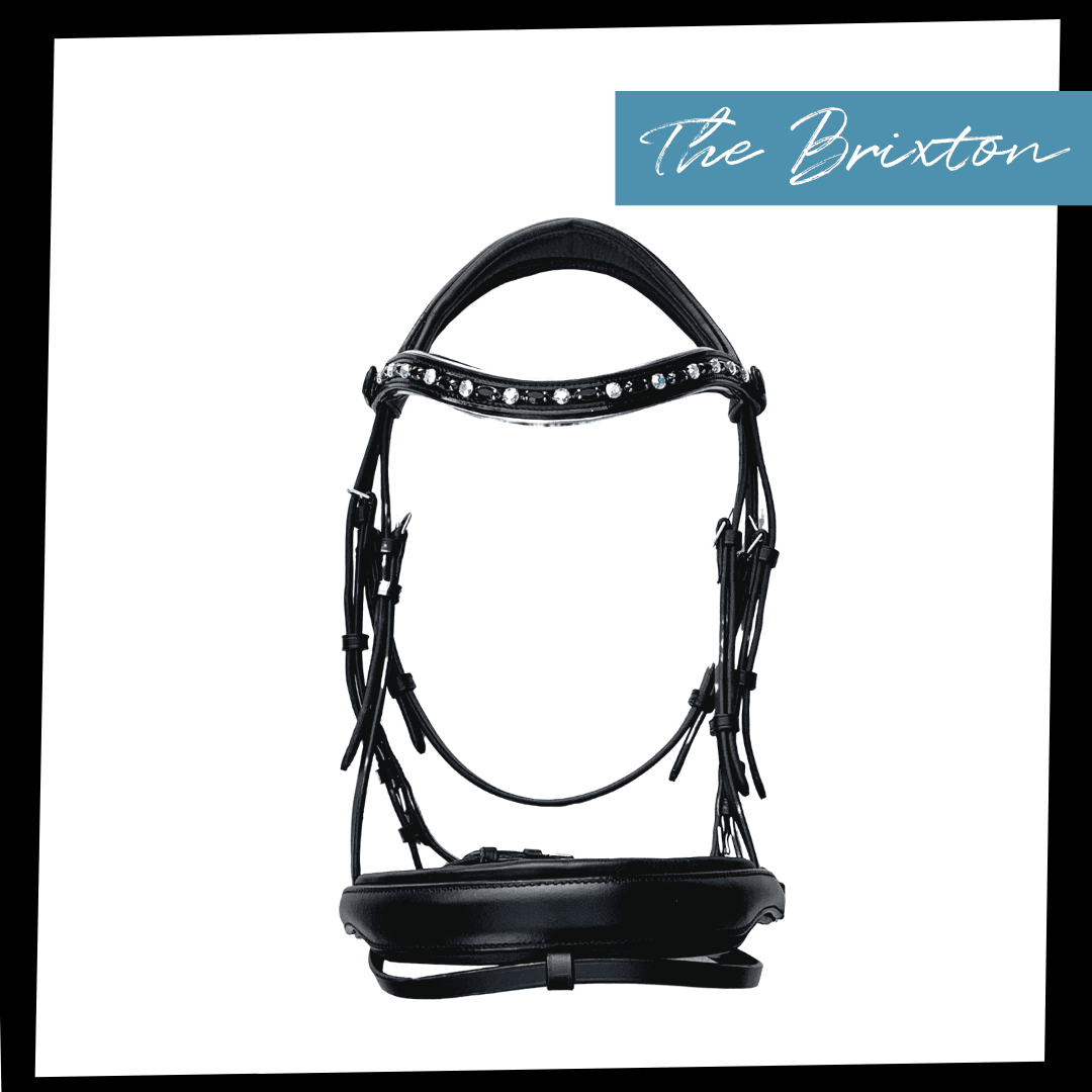 Brixton Bridle - Black Leather Anatomical Snaffle Bridle