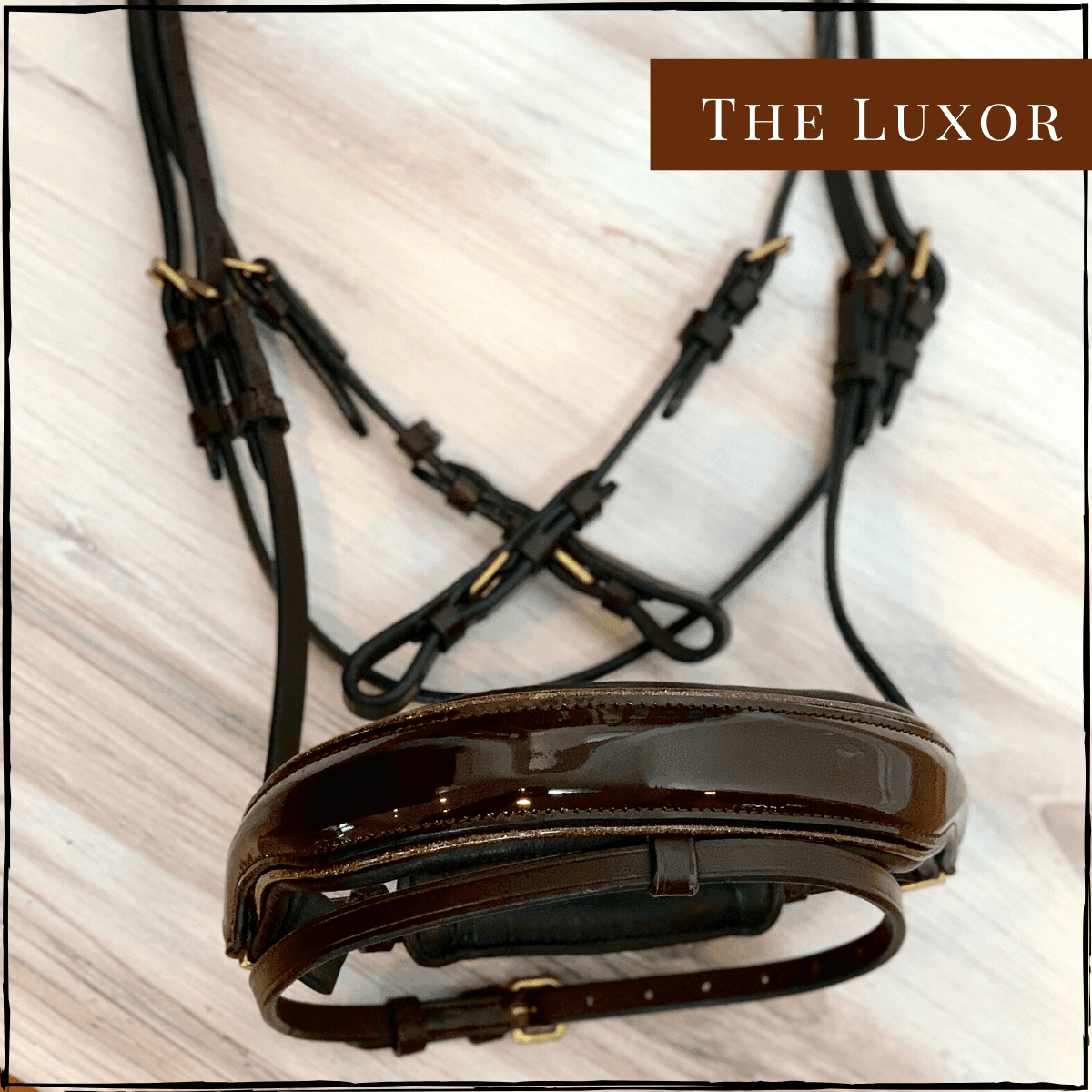 Halter Ego® 'Luxor' Brown Patent Sparkle Snaffle Bridle