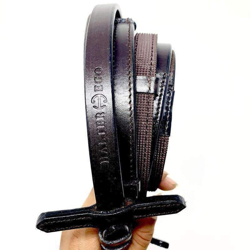 Halter Ego® Luxury Rubber Grip Lined Leather Reins