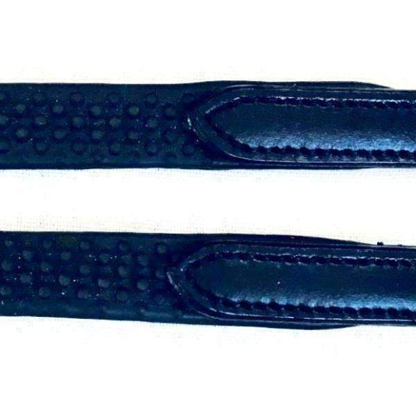 Pebble Grip Reins with Leather/Buckle Ends