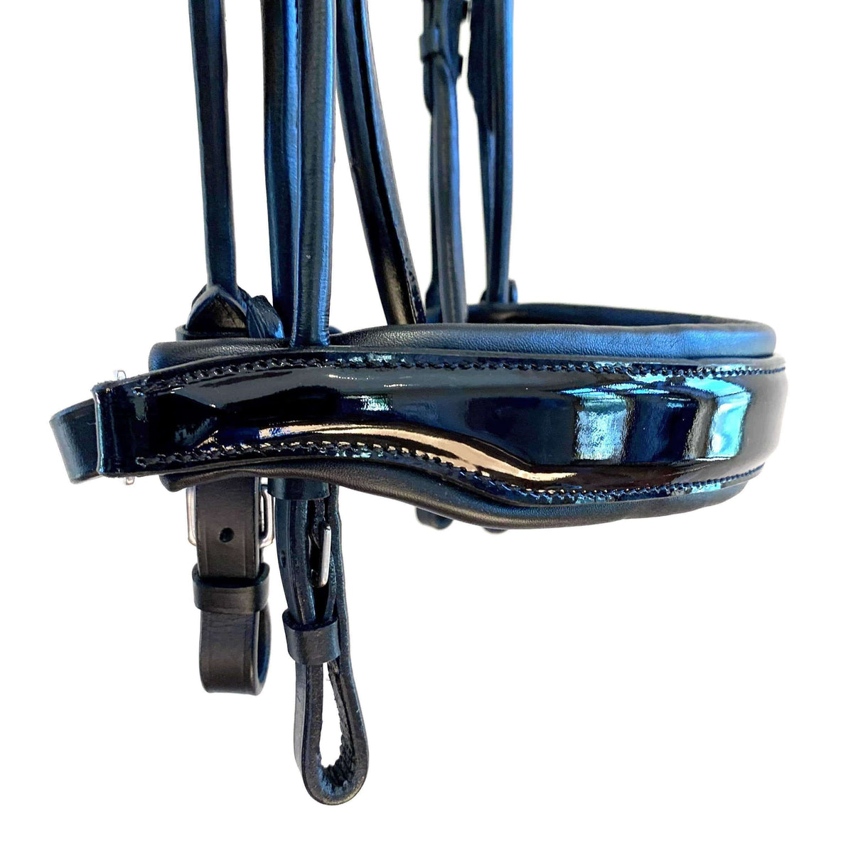 The Halter Ego® 'Hadley' Rolled Patent Double Bridle