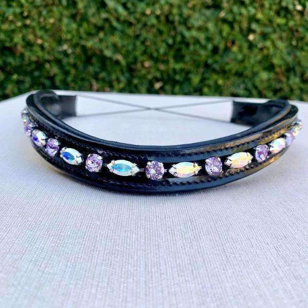 Halter Ego® Swarovski Crystal Patent Browband - Limited Edition Center Stage Aurora