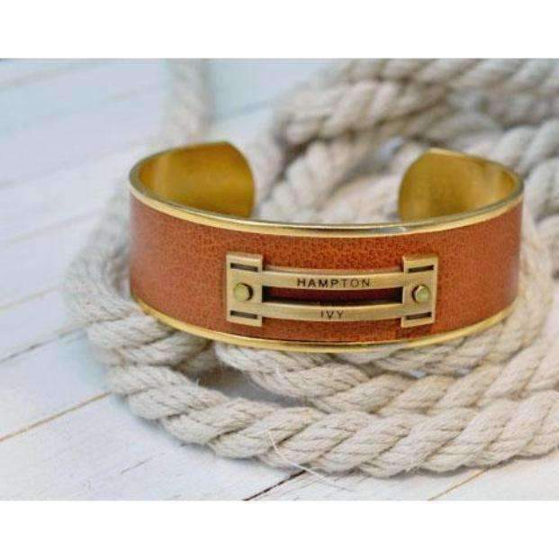 Equestrian Leather Cuff Bracelet