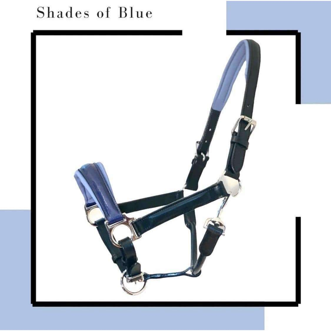 "Limited Edition Halter Ego® ""Shades of Blue"" Leather Halter"