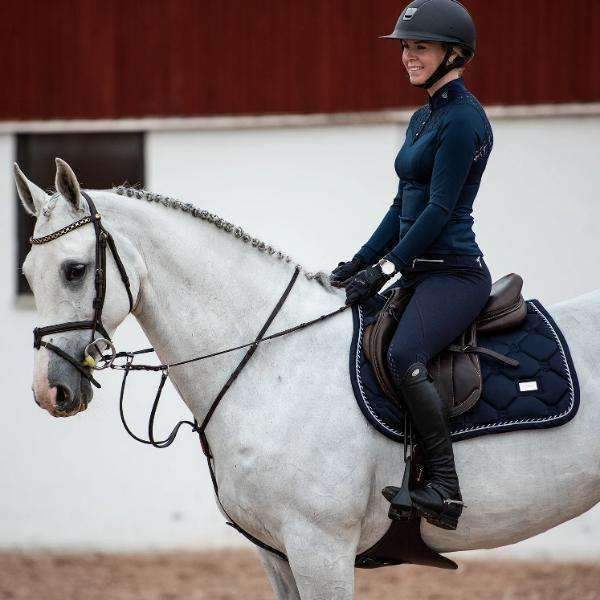 Equestrian Stockholm Midnight Navy Jump Saddle Pad