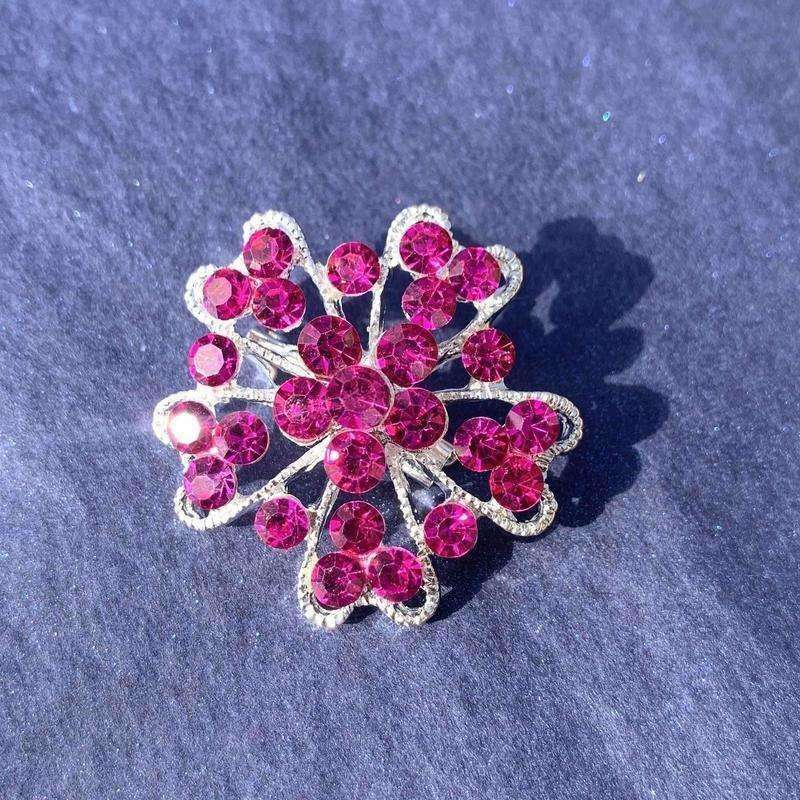 Assorted Pink Crystal Stock Pin