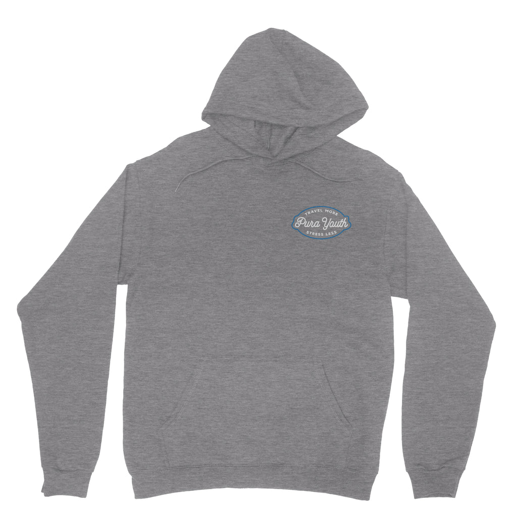Stress Less Hoodie Heather Grey