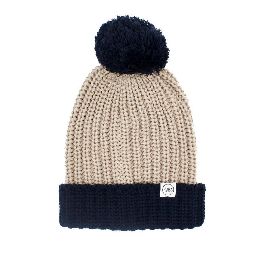 Wilderness Beanie Stone/Navy
