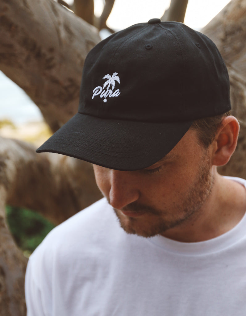THE TROPICS UNSTRUCTURED HAT BLACK
