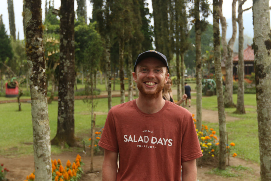 SALAD DAYS TEE - RED MARBLE