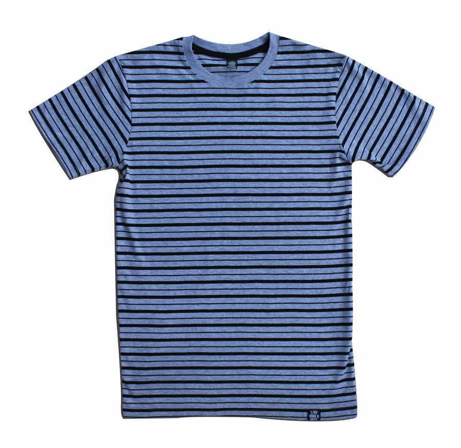 SIGNATURE STRIPED TEE GREY