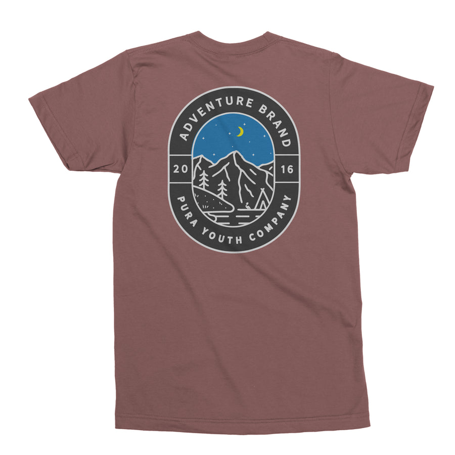 Expedition Tee Maroon