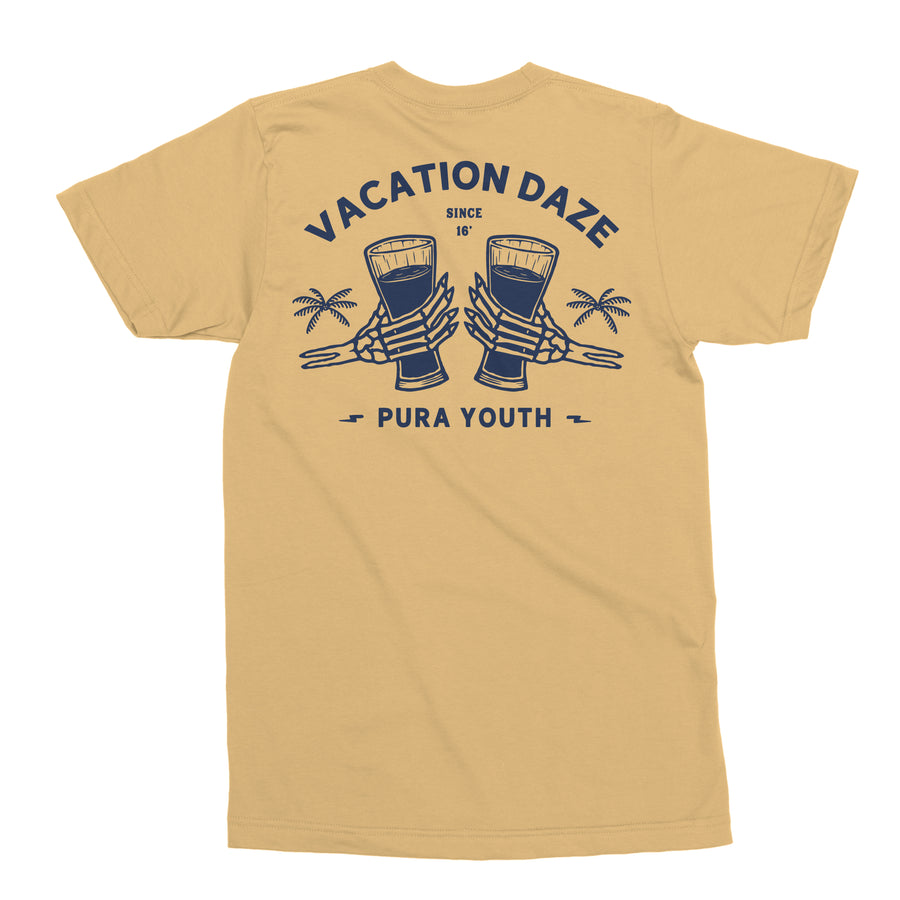 VACATION DAZE TEE SUMMER YELLOW