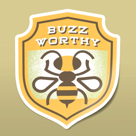 Buzz Worthy Sticker
