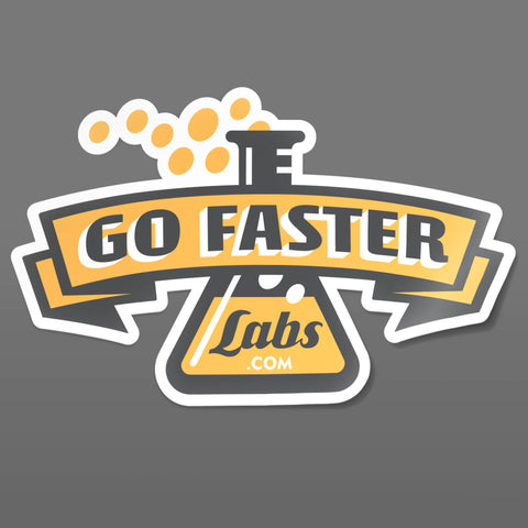 Go Faster Labs (Retro Logo) Sticker