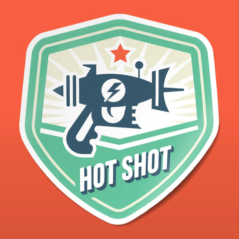 Hot Shot Sticker