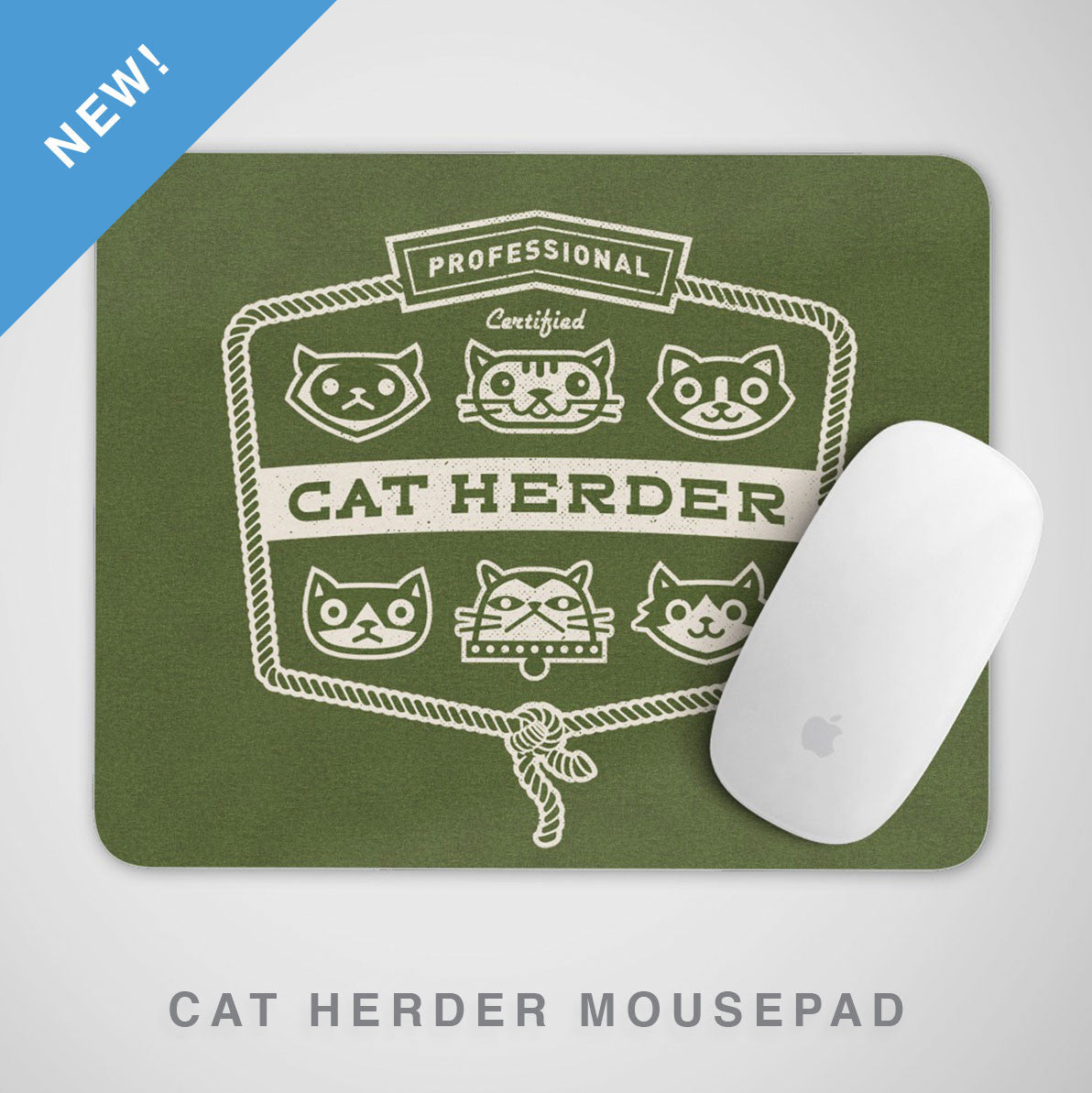 Cat Herder Mouse Pad