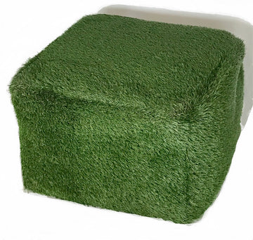 Square Artificial Grass Stool 24x16